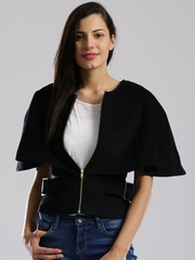 D Muse Black Cape Jacket
