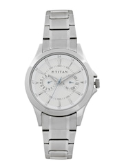 Titan Men White Dial Watch NE9323SM01B