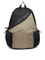 Fastrack Men Brown & Black Colourblocked Backpack