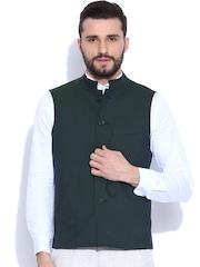 Peter England Green Nehru Jacket