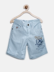 U.S. Polo Assn. Kids Boys Blue & White Striped Shorts