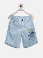 U.S. Polo Assn. Kids Boys Blue & White Striped Shorts