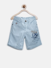 U.S. Polo Assn. Boys Blue & White Striped Shorts
