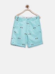 U.S. Polo Assn. Boys Blue Printed Shorts
