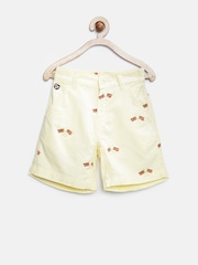 U.S. Polo Assn. Kids Boys Yellow Flag Print Shorts
