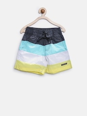 U.S. Polo Assn. Kids Boys Multicoloured Colourblocked Shorts