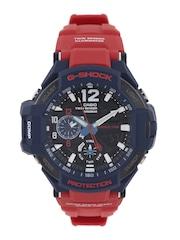 CASIO G-Shock Men Chronograph Red Analogue & Digital Watch G597