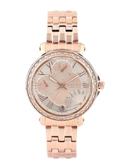 Casio Sheen Women Peach-Coloured Dial Watch with Swarovski Elements SX143