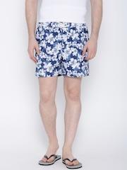 IZOD Blue Floral Print Shorts