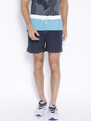 IZOD Navy Panelled Shorts