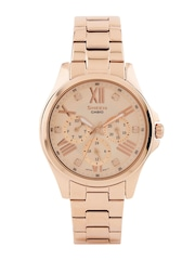 Casio Sheen Women Rose-Gold Toned Dial Watch SX149
