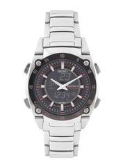 SEIKO Men Charcoal Grey Chronograph Analogue & Digital Watch SNJ019P1