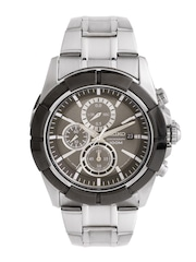 SEIKO Men Chronograph Gunmetal-Toned Dial Watch SNDE69P1