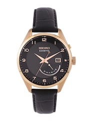 SEIKO Kinetic Men Black Dial Watch SRN054P1