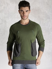 Roadster Olive Green Sweatshirt