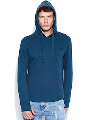 Roadster Teal Blue Hooded Sweatshirt