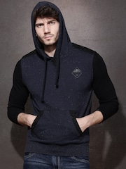 Roadster Navy Sleeveless Hooded Sweatshirt