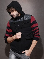 Roadster Black Sleeveless Jacket