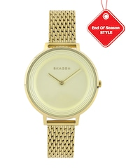 SKAGEN DENMARK Women Cream-Coloured Dial Watch SKW2333I