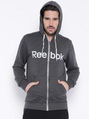 Reebok Charcoal Grey Slim Hooded Sweatshirt