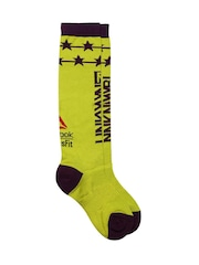 Reebok CrossFit Women Lime Green Knee-Length Training Socks