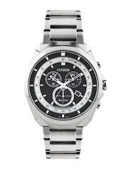 Citizen Men Black Dial Eco-Drive Chronograph Watch AT2150-51E