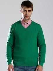 Nautica Green Woollen Sweater