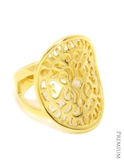 Mast & Harbour Women Gold-Toned Cut-Out Ring