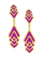 DressBerry 22K Gold-Plated & Purple Earrings
