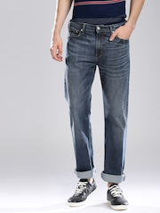 Levis Blue Washed Slim Straight Jeans 513