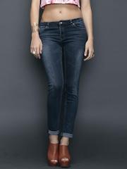 SELA Blue Washed Slim Jeans