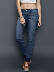 SELA Blue Washed Straight Fit Jeans