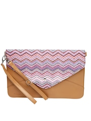 FunkyFish Brown Embroidered Clutch