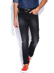 John Players Black Low-Rise Comfort Skinny Fit Jeans