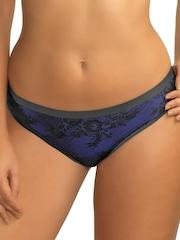 Amante Black & Blue Seamless Lace Bikini Briefs PAN24001