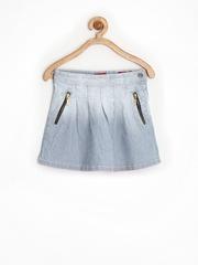 Gini & Jony Girls Blue & White Striped Skirt
