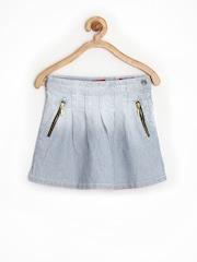 GJ UNLTD JEANS by Gini & Jony Girls Blue Striped Denim Skirt