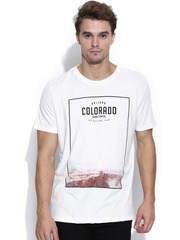 H.E. by Mango Off-White Printed T-shirt