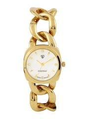 Sandy Deniel by Swiss Design Women Off-White Dial Watch SD 003 IPG