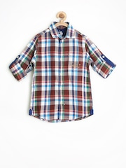 U.S. Polo Assn. Kids Boys Multicoloured Checked Shirt