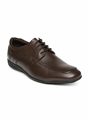 Hush Puppies by Bata Men Brown Leather Derby Formal Shoes