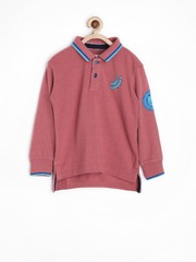 Jn Joy Boys Dusty Pink Polo T-shirt
