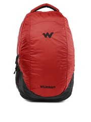 Wildcraft Unisex Red & Black Peza Backpack