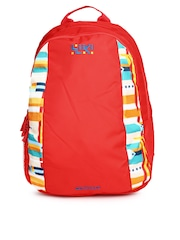Wiki by Wildcraft Unisex Red Bonk Printed Backpack