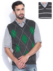 Proline Colours Charcoal Grey Reversible Sleeveless Sweater