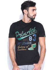 Proline Black Printed T-shirt