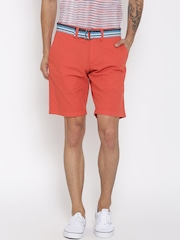 Tommy Hilfiger Men Orange Solid Chino Shorts