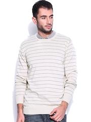 Kook N Keech Beige Striped Sweater