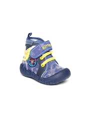 Kittens Boys Navy Printed Casual Shoes