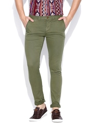 Jack & Jones Olive Green Chino Trousers